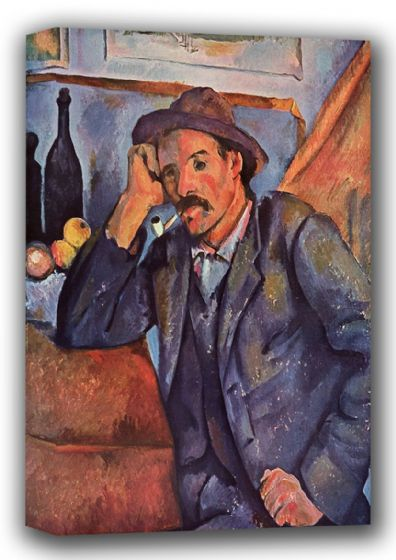 Cezanne, Paul: Man Smoking a Pipe. Fine Art Canvas. Sizes: A4/A3/A2/A1 (001785)